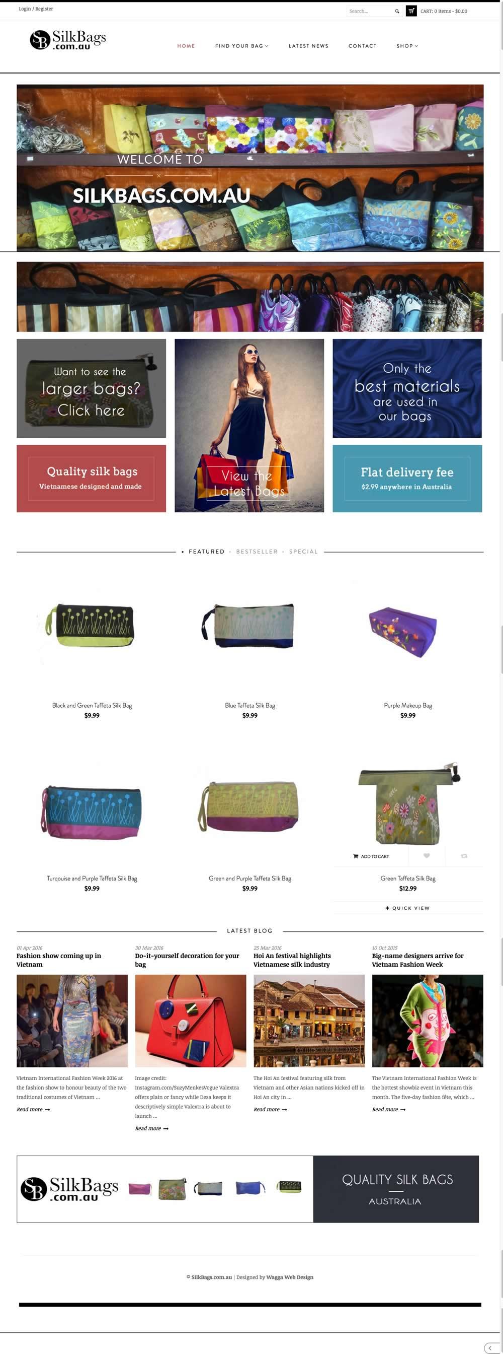 silk bags website