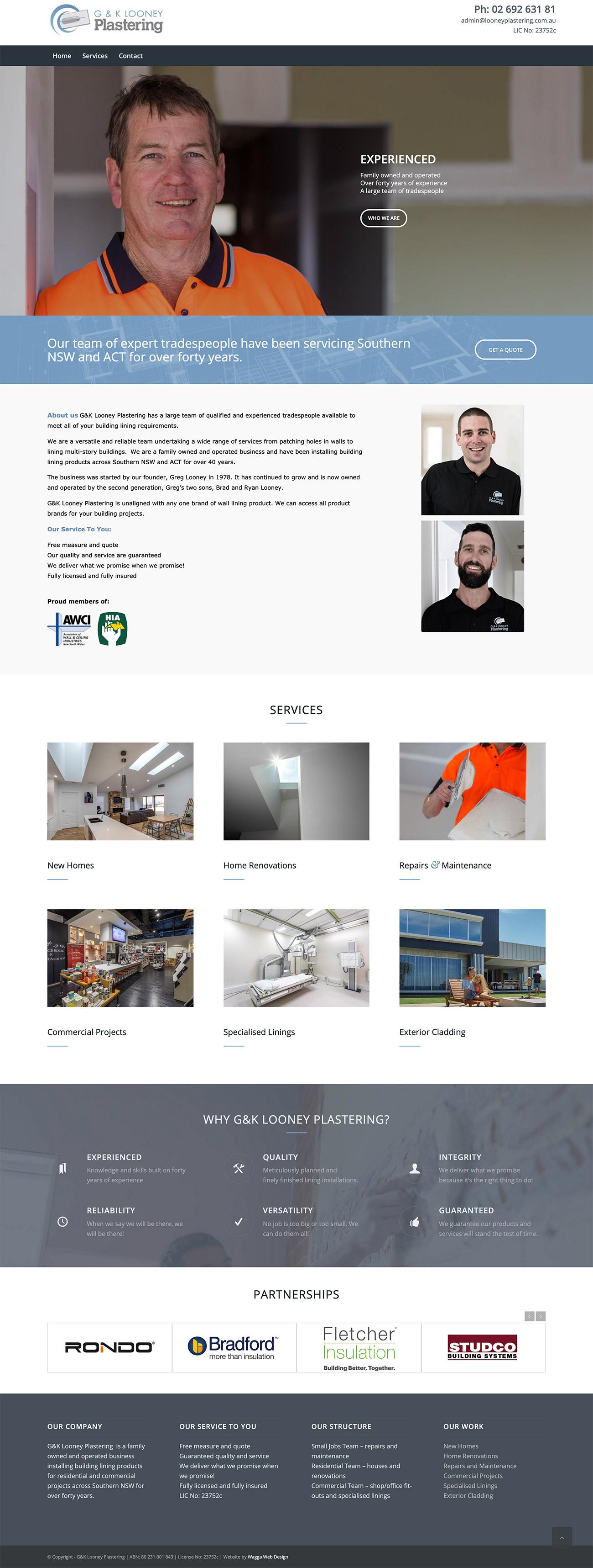 Plastering website